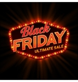 Black Friday retro light frame vector image vector image