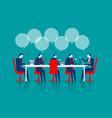 business people brainstorming vector image