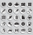 car parts and repair set on plates background for vector image vector image