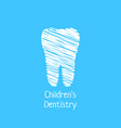 children dentistry with scribble tooth vector image vector image