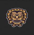 chinese lion logo design template lion head icon vector image vector image