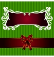 Christmas Frame with ribbon label vector image vector image