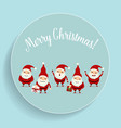 Christmas Greeting Card with Christmas Santa Claus vector image vector image