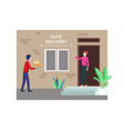 contactless delivery concept vector image vector image