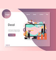 deal website landing page design template vector image vector image