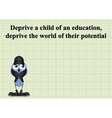 Deprive a child vector image