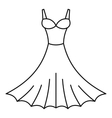 Dress icon outline style vector image vector image