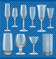 drinking glass mockup set realistic style vector image