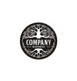 family tree life emblem label logo design vector image vector image