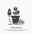 finance financial growth money profit icon glyph vector image vector image