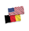 flags of belgium and america on a white background vector image