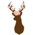 floral deer vector image vector image