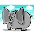 funny elephants cartoon against sky vector image vector image