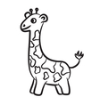 giraffe black and white vector image vector image
