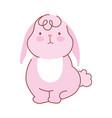 happy easter cute little rabbit cartoon season vector image vector image