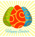 happy easter easter vector image