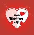 happy valentines day typographic and red vector image vector image
