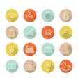 icons set mall vector image