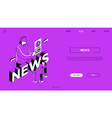 internet news landing page colorful vector image
