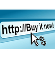internet shop page vector image