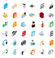 mail equipment icons set isometric style vector image vector image