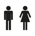 man and woman flat icons on a white background vector image