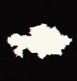 map kazakhstan isolated vector image