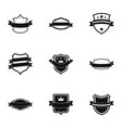 norm icons set simple style vector image vector image