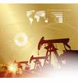 oil derrick infographic with stages of process vector image