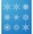 ornate snowflakes set vector image vector image
