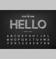pencil font font and alphabet sketch design vector image vector image
