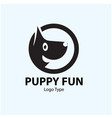 puppy logo designs vector image