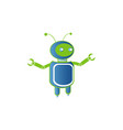 robot logo artificial intelligence badge for vector image vector image