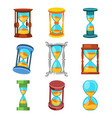 sand clocks isolated vector image vector image