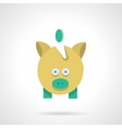 Saving money concept Flat color icon vector image