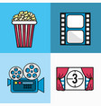 set cinematography tools production studio vector image vector image