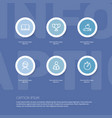 set of 6 editable teach outline icons includes vector image vector image