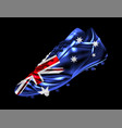 soccer football boot with the flag of australia vector image