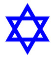 star david with flag israel icon on a vector image