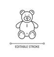 stuffed bear linear icon vector image