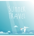 Summer Travel by Plane vector image