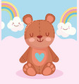 toys object for small kids to play cartoon teddy vector image vector image