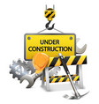 Under Construction Concept with Frame vector image
