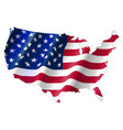 united states america map with waving flag vector image vector image