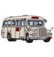 vintage cream bus vector image