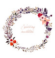 watercolor with floral wreath vector image vector image
