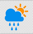 Weather forecast icon in flat style sun with