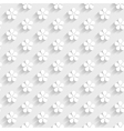 white 3d pattern vector image vector image