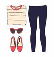 with womens clothes vector image