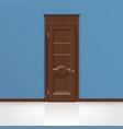 wooden entrance door vector image